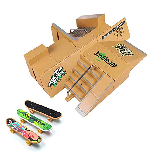 (Skate Park Kit, Hometall 8PCS Skate Park Kit Ramp Parts for Finger Skateboard Ultimate Parks Training Props (8PCS))