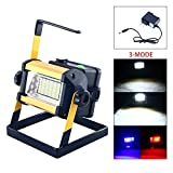 Waterproof Rechargeable Portable Work Light, Outdoor Security Lighting Portable Floodlight, 3 Modes 36 LED 6000K