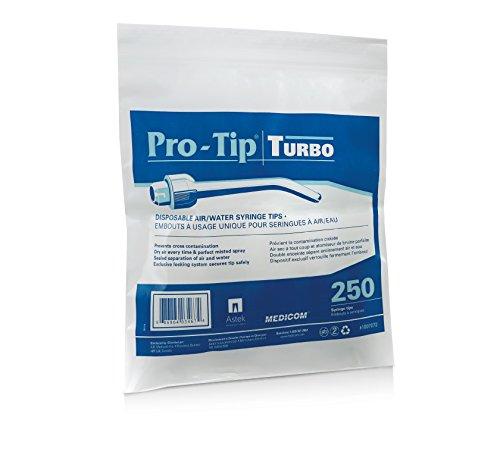 Medicom ME-1007072 Pro-Tip Turbo Single Use Air/Water Syringe Tip, Shape, (Pack of 3000)