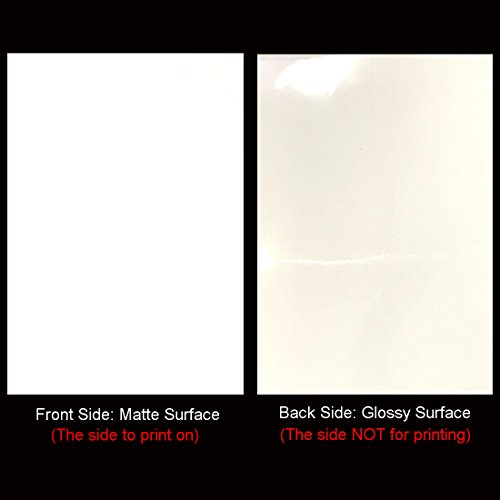 Printable Iron-On Heat Transfer Vinyl Sheets for Inkjet Printers T-Shirt Transfers, A4 Sheets (10 Sheets / White)
