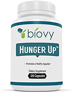 HungerUp™ - Appetite Stimulant by Biovy™ (with No Artificial Fillers) - Effective Weight Gain Pills with Fenugreek Extract to Increase Appetite and Gain Weight
