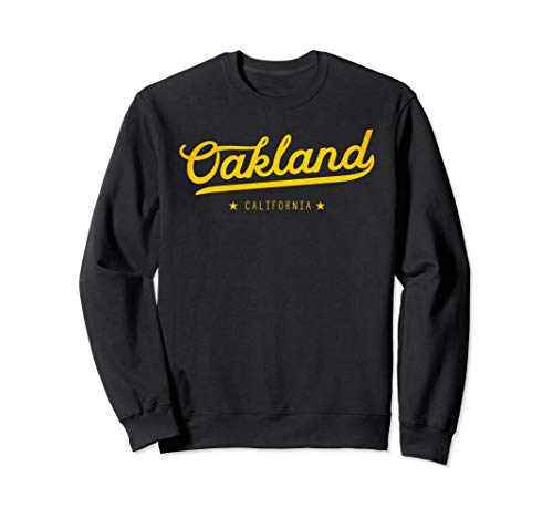 - Yellow Vintage Retro Oakland California Bay Area Sweatshirt