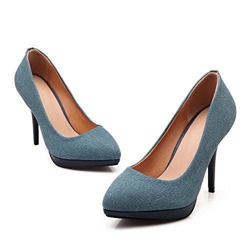 Shoes On Darkblue Spikes Stilettos Soft Material Pull WeenFashion Pumps Women's Solid zXqffw