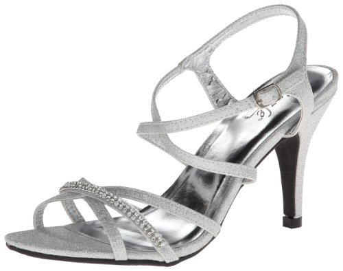 Coloriffics Metallic Sandals - Coloriffics Sizzle by Women's Shelly Dress Sandal,Silver,7.5 M US