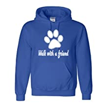 Adult Walk With A Friend Dog Lovers Pet Lovers Sweatshirt Hoodie