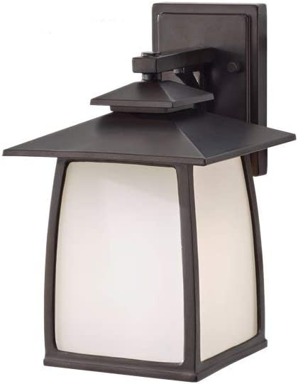 Feiss Wright House Outdoor Patio Lighting Wall Lantern, Bronze, 1-Light 8 W x 13 H 100watts