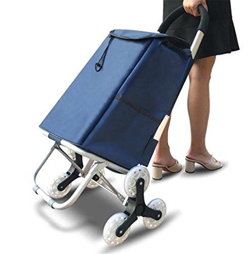 D&F Plegable subir las escaleras Carro de compras con 3 ruedas, aleación de aluminio multifunción Carros para supermercado compras, black: Amazon.es: ...