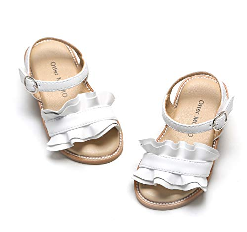 Otter MOMO Girls Sandals (5M-5 5/16 inches-13.5cm, D703-White)