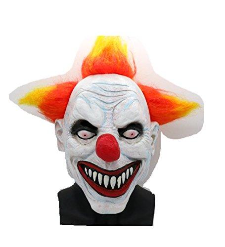 Halloween Devil Clown Mask Horror Scary Funny Mask Beige