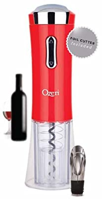 Ori Nouveaux II Electric Wine Opener with Foil Cutter, Wine Pourer and Stopper
