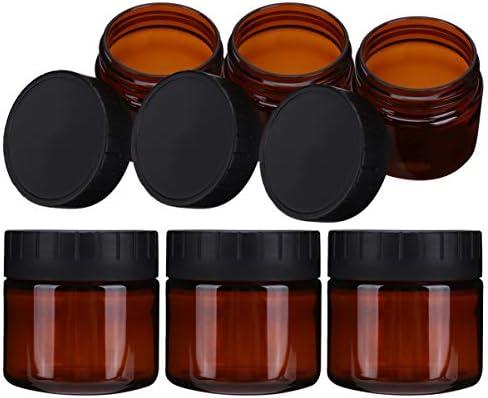 KESYOO 6 stks Cream Jar Containers Lege Crème Flessen Lekvrije Lotion Containers Brede Mond Crème Flessen voor Reizen Trip 100 ml