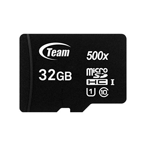 (Team 32GB microSDXC UHS-I/U1 Class 10 Memory Card with Adapter, Speed Up to 80MB/s (TUSDX32GUHS03))