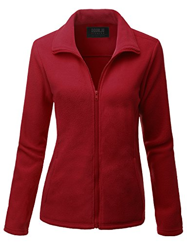 [Doublju Womens Basic Thermal 3/4 Sleeve Jacket RED,M] (Daria Costume)