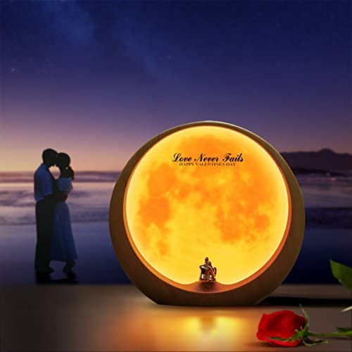 mamre Moon Ambient Light DIY Anniversary Wedding Valentines Day Gift Ideas Art Décor, Love Beneath The Red Moon 41UZREthnUL