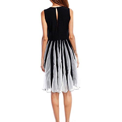 En El Verano Señora Delgado Fiesta De Moda Elegante Retro Vestidos Black