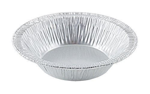 Silver Aluminum Foil Tart Pan 3'' (Pack of 100) Disposable Mini Pie Tin