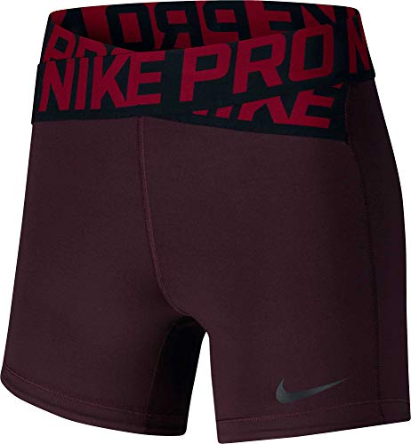 Nike Women's 5'' Intertwist Shorts (Burgundy Crush, Medium) ()