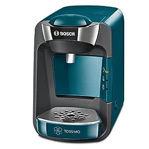 Bosch TAS3205 Tassimo Suny - Cafetera multibebidas automática de cápsulas con sistema SmartStart, color azul pacífico