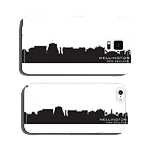 Wellington New Zealand city skyline vector silhouette cell phone cover case Samsung S5