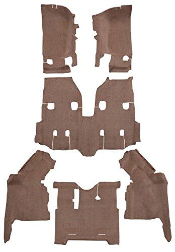 8295-Medium Doeskin Plush Cut Pile ACC Replacement Carpet Kit for 2007 to 2010 Jeep Wrangler Passenger Area