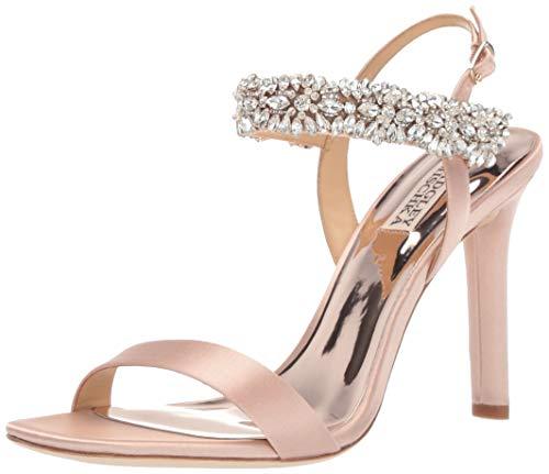 Badgley Mischka Women's Lilly Heeled Sandal, Soft Blush, 8 M US
