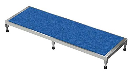 Adjustable Work Stand - Ergonomic Matting Deck - BAHT Series; Deck Size (W x L): 24'' x 72''; Service Range: 5'' to 8''; Number of Legs: 6; Capacity (LBS): 500 by Beacon World Class Products (Image #1)