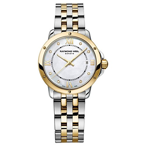 Raymond Weil Tango MOP Dial Two-Tone SS Quartz Ladies Watch 5391-STP-00995 (Wrist Date Weil Raymond Watch)