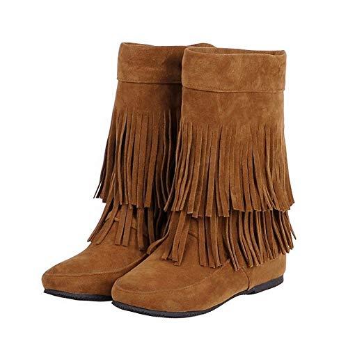 Boots MissSaSa Donna Le Stivali Marrone Frange con x0Pqw0I