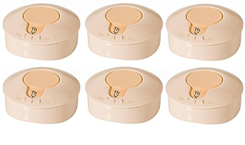 (Medela Breastmilk Labeling Lids - 6 labeling lids in bulk non retail packaing)