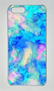 Electrify Ice Blue Iphone 5 5S Hard Shell with Transparent Edges Cover Case by Lilyshouse by icecream design
