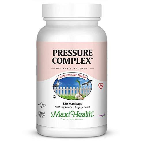 Maxi Health Pressure Complex - with CO Q10 - Blood Pressure Support Formula - 120 Capsules - Kosher (Pressure Blood Complex)