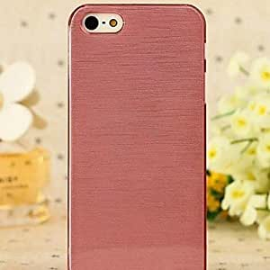 LIMME Coway Crystal DrawingTransparent Edge Plastic Back Case for iPhone 5/5S(Assorted Color) , Red