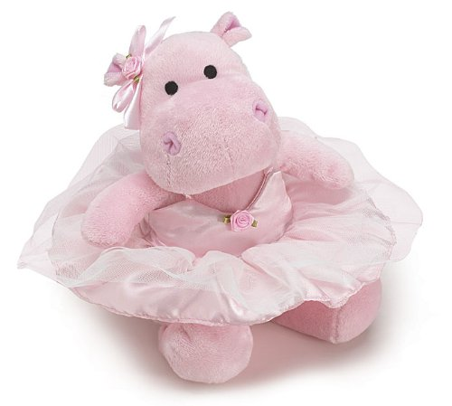 Burton and Burton Stuffed Animal Cute Pink Ballerina Hippo Plush Toy