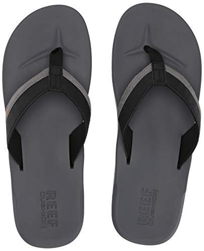- Reef Men's Contoured Cushion Sandal, Grey/Orange, 120 M US
