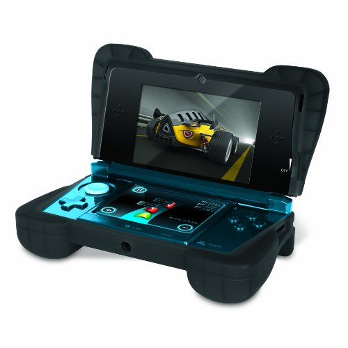"Comfort Grip for Original 3DS (Not the ""NEW""  version) – Silicone Protective Cover Gives Your 3DS Armor - (Transparent Black)"