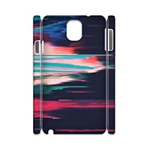 3D Abstract Pattern Samsung Galaxy Note 3 Case, [White]