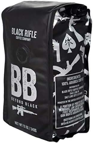 Beyond Black Dark Roast Ground Coffee by Black Rifle Coffee Company | 12 oz Bag of Premium Gourmet Specialty Coffee | Perfect Coffee Lovers Gift