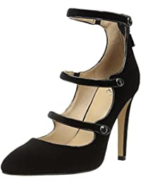 Women's Maya Pointed-Toe Military-Inspired Strap Pump With Decorative Jewels