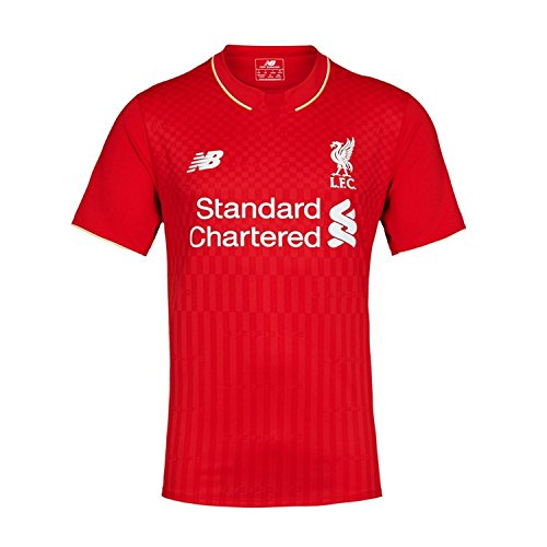 New Balance Balotelli #45 Liverpool Home Soccer Jersey 2015 Red