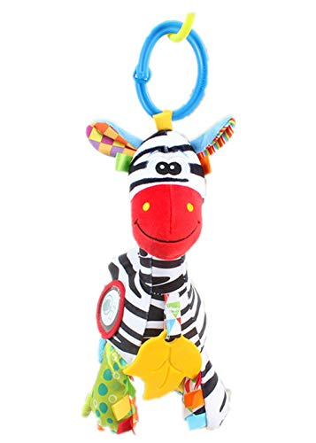 HARBORII Stroller Car Seat Toy Kids Baby Bed Crib Cot Pram Hanging Giraffe Toy Pendant with Ringing Bell(Zebra)