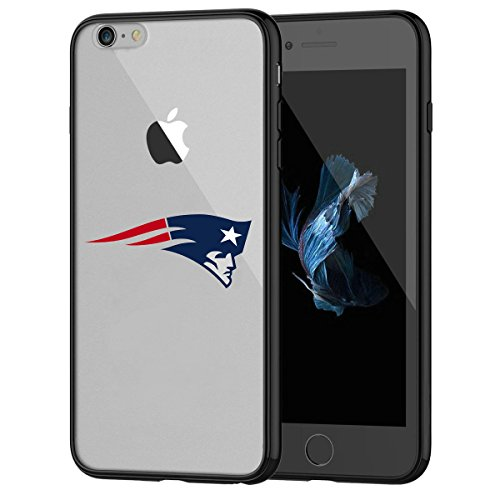 Patriots iPhone 7 Tough Case, Shock Absorption TPU + Translucent Frosted Anti-Scratch Hard Backplate Back Cover for iPhone 7- Black