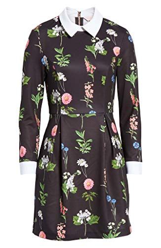 Ted Baker Matredi L/S Florence Collar Print Dress in Black (Ted Baker Dress Print)