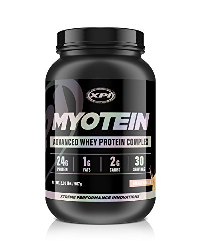 Myotein Protein Powder (French Vanilla, 2lb) - Advanced Whey Protein Powder Complex / Shake - Hydrolysate, Isolate, Concentrate and Micellar Casein