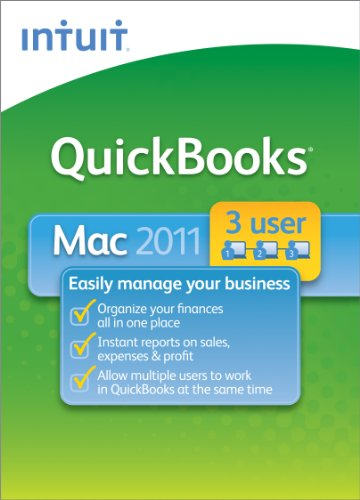 QuickBooks 2011 for Mac 3-User [Download] [OLD VERSION]