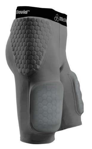- McDavid Hexpad Youth Girdle With Sewn In Hardshell Thigh Guards, Grey, Small