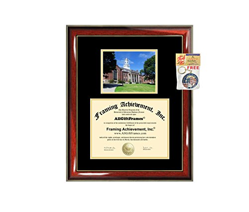 University of Connecticut Diploma Frame UCONN Graduation Degree Frame - Matted College Campus Photo Graduation Certificate Collegiate Gift Plaque Holder Case Framing by AllGiftFrames