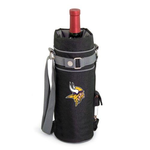 NFL Minnesota Vikings Insulated Single Bottle Wine Sack with Corkscrew ()