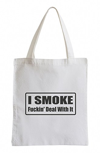 J.Roxx I smoke fuckin« deal with it Fun Jutebeutel