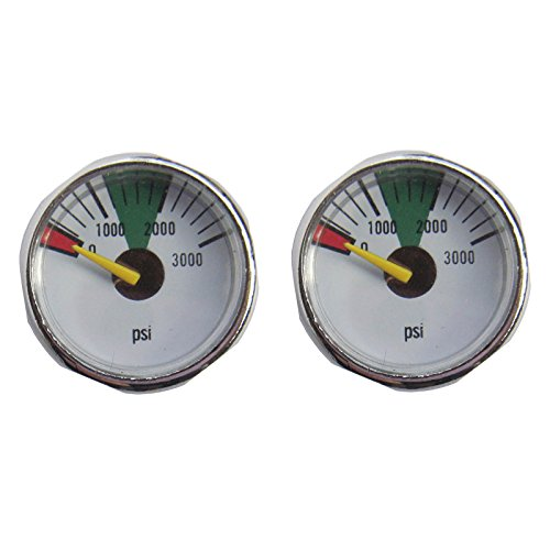 GFSP Outdoor Sports New 300/600/1500/3000/5000 PSI Paintball Micro Gauge,Diameter 25mm,1/8-27NPT (3000 PSI)