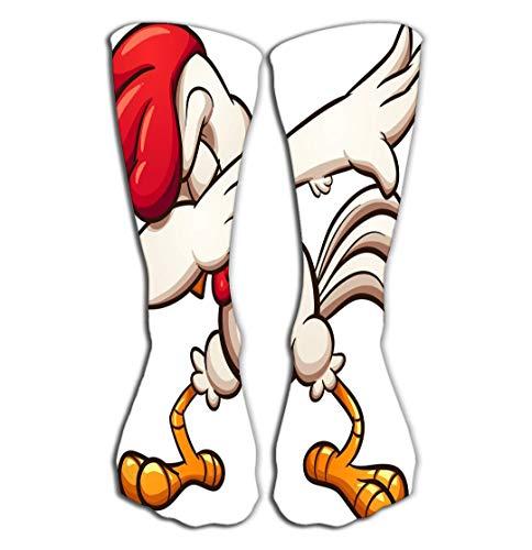 Chicken Clipart - YILINGER Men's Women Sport High Stockings Novelty Crew Socks 19.7